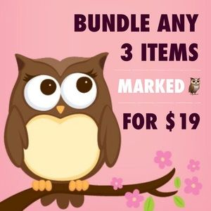 SALE❗️Bundle any 3 items marked with 🦉for $19